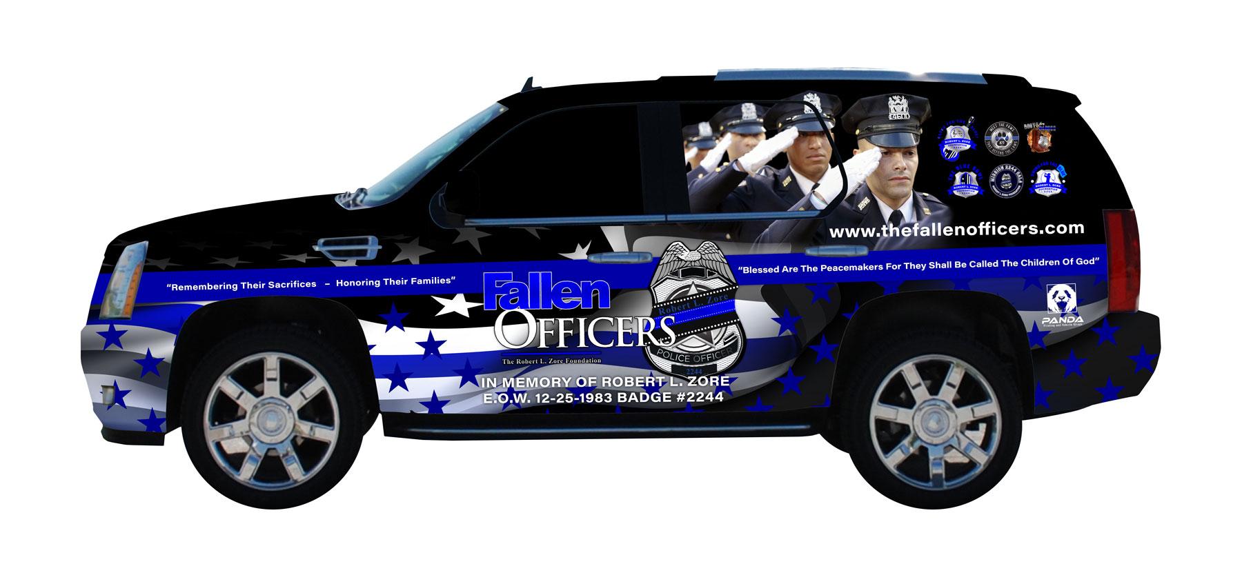 Fallen Officers Custom Wrap Design
