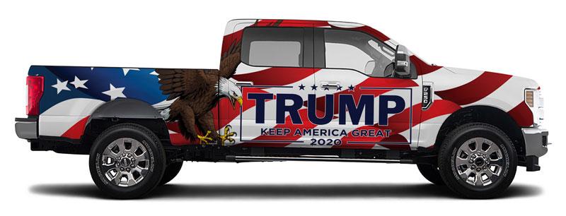 Custom Trump Vehicle Wrap Design