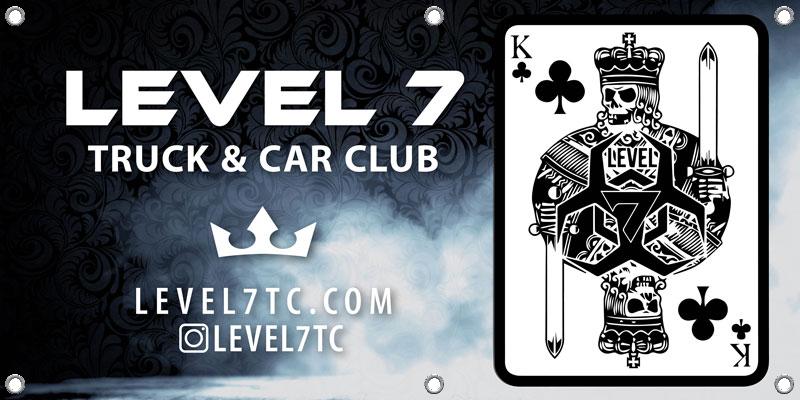 Level 7 Truck & Car Club Banner