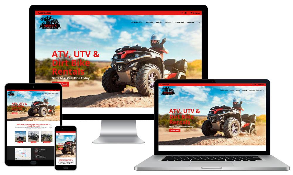 Web Development for Forrests Motorsport Rentals